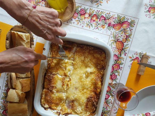 Lasagne blanche aux pommes &amp&#x3B; jambon