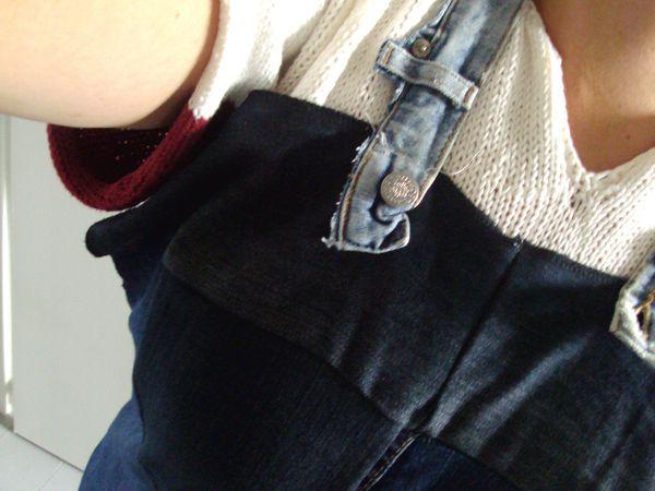 couture : tablier, recyclage de jeans