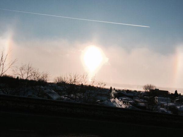 Magnifique parhélie solaire ce matin