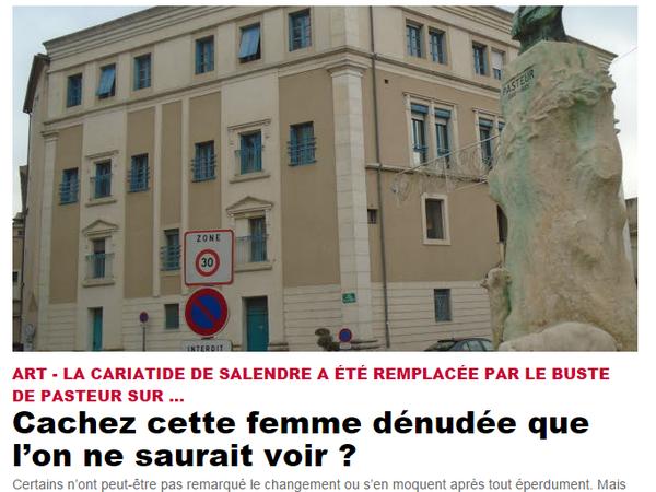 """Article de presse """"Le Dauphiné Libéré"""" du 23/01/2017 concernant le 3éme déplacement de ce buste."""