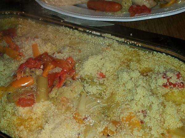 Cous cous con verdure e carne di pollo
