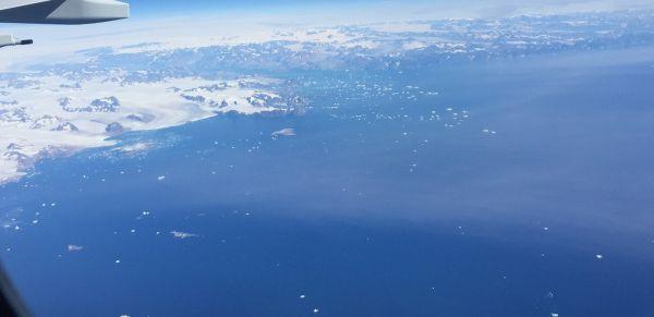 Vol au dessus du Groenland