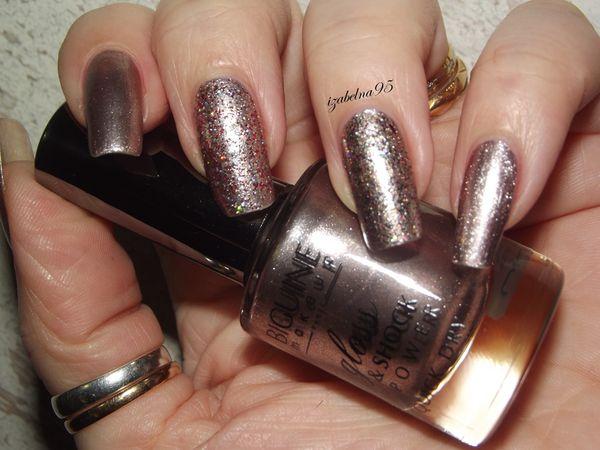 BIGUINE Gloss &amp&#x3B; Shock Pink Silver+paillettes