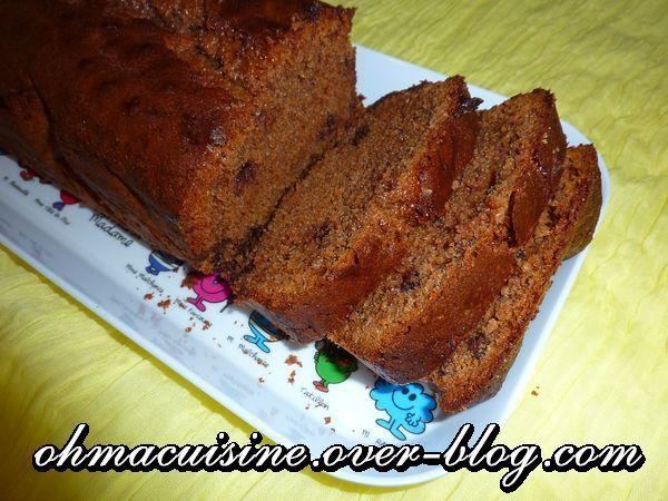 Cake au chocolat praliné