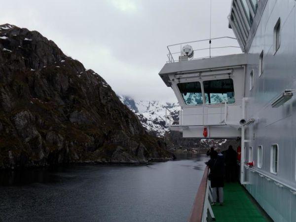 Trollfjord peu avant minuit