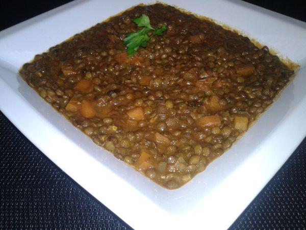 Lentilles à la marocaine (lehdess)