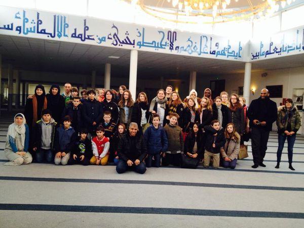 Visite de la mosquée de Valence par les élèves de cinquième
