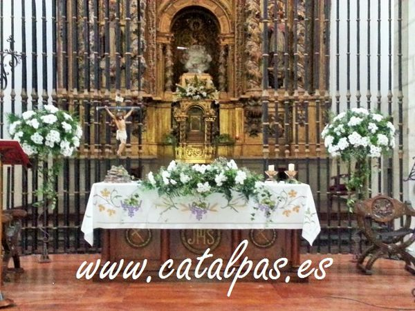 catalpas - decoración iglesia