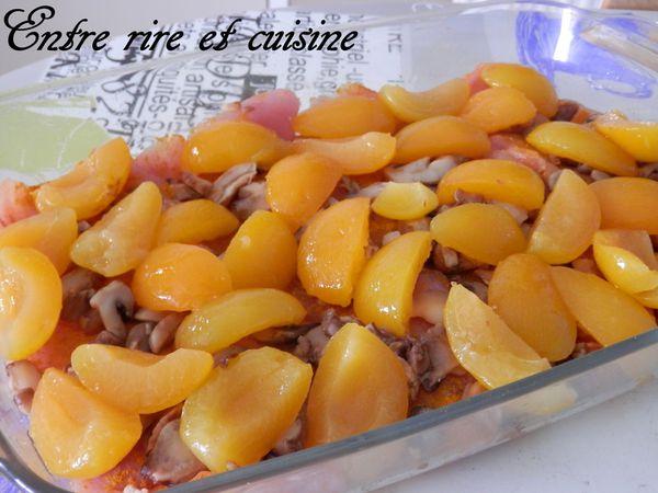 Escalopes de dinde aux Abricots au four {recette express}