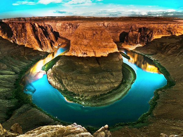 Le Fer à Cheval du fleuve Colorado,  Horseshoe Bend, Arizona, Amérique