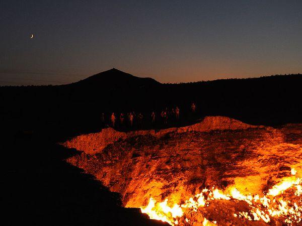 La porte de l'Enfer, Derweze, Turkménistan