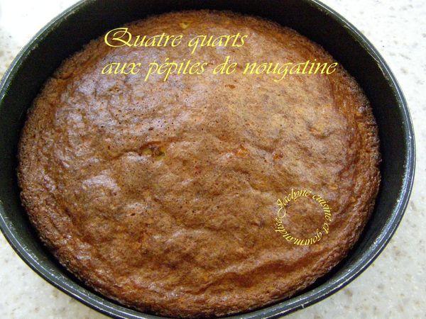 Quatre quarts  aux pépites de nougatine *Recette de la Mère Brazier* Jaclyne www.cuisineetgourmandise.fr