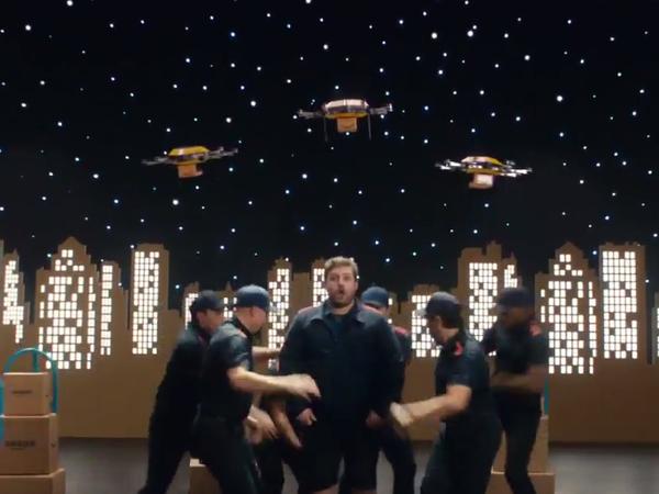 AMAZON : sa dernière pub Prime communique fort ...drones inclus ! Régalez vous