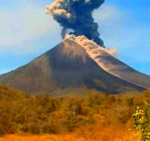 Some explosions of Momotombo, respectively on 28.02 / 11:39 - 29.02 / 9:27 -  29.02./ 10.15 - photos webcams Red Sismologica of Nicaragua