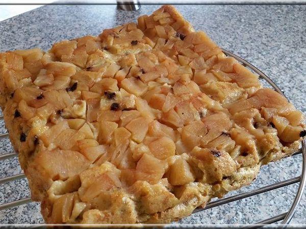 Pudding Vanille &amp&#x3B; Pépites de chocolat façon Tatin
