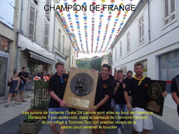 Les juniors en ont profité pour fêter une nouvelle fois leurs différents titre dont celui de Champion de FRANC