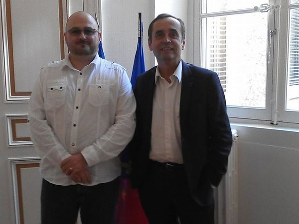 Le Président du SDPM avec Robert Ménard et Dominique Garcia le 23 octobre 2014. Dernière photo : conférence sur la sécurité de Robert Ménard en Octobre 2013 lors des campagnes municipales.