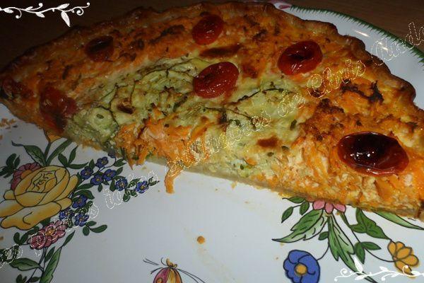 Tarte courgette et carotte