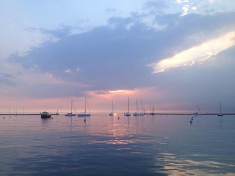Lake Michigan in early summer moring