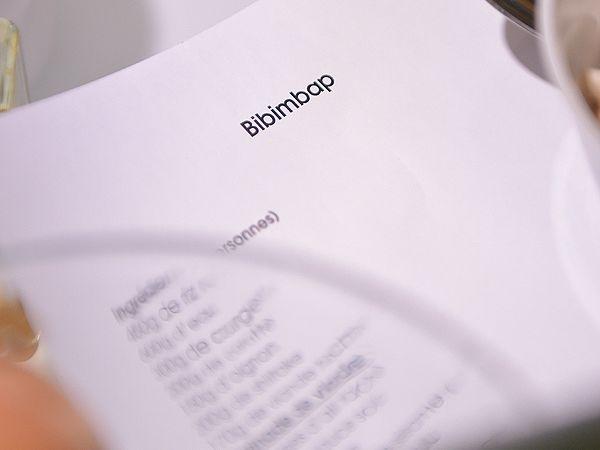 BIBIMBAP signe gourmand d'une soirée coréenne - Atelier 750g