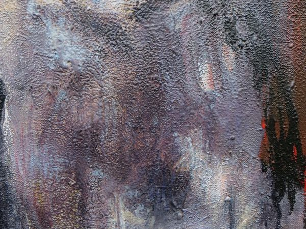 détail de Flo 154x16 acry sur toile et marouflages