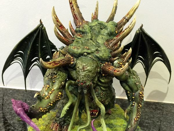 GW Glottkin as Cthulhu / Nurgle Daemon Prince, finished !