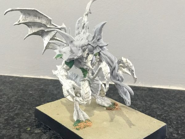 Great Cthulhu using parts from Hordes Everblight, assembled