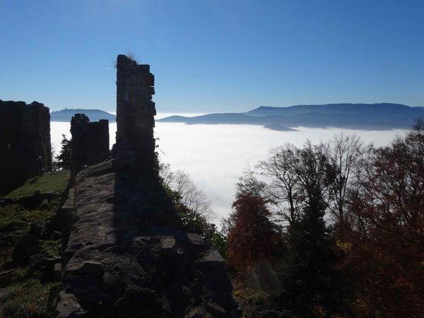 La vue depuis le château est exceptionnelle.