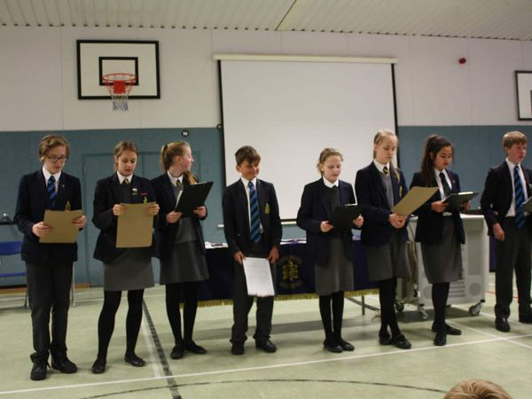 Heathfield School Dissemination Assembly about amazing week at the Music School Volos.