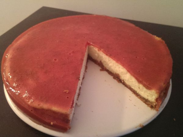 Gâteau fromage blanc fraise spéculoos