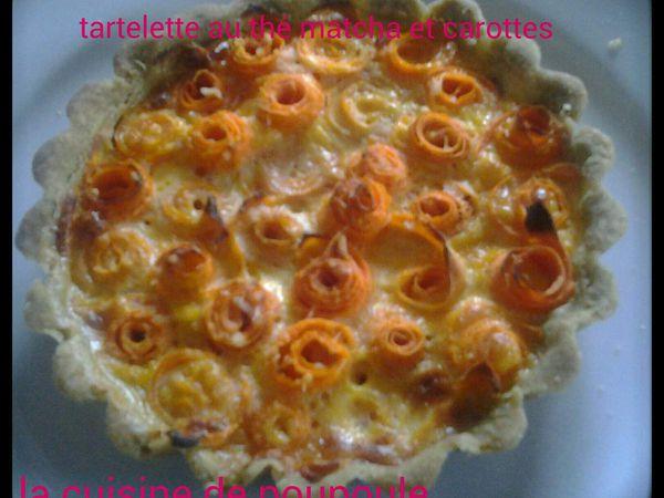 Tartelette de carottes en forme de rose au thé Matcha au thermomix