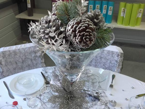 Ma table blanc argent