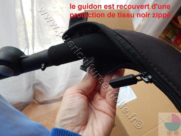 LE GUIDON AVEC 3 POSITIONS ET PROTECTION TISSU ZIPPEE