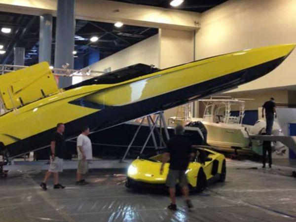 VIDEO - un speedboat de 1.3 million de dollars inspiré d'une Lamborghini