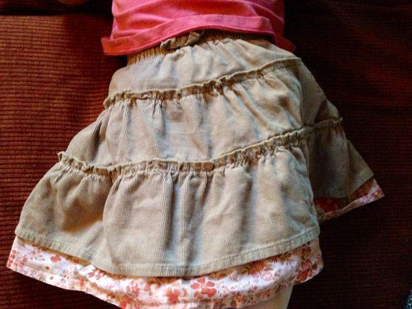 Mode bébé : jolie jupe et tee shirt rose