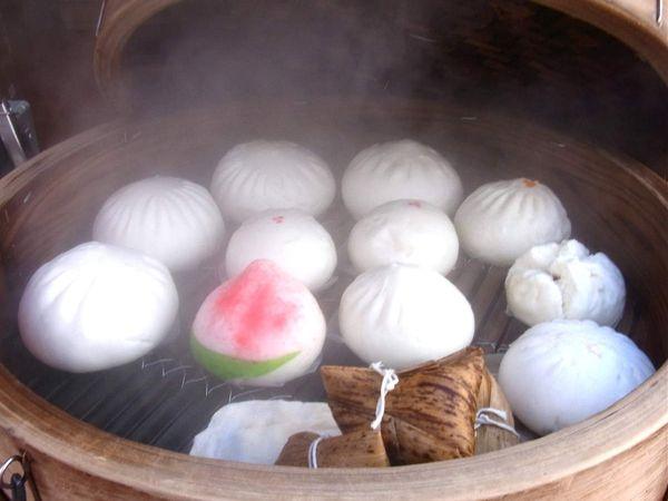 Plats chinois et pains vapeur