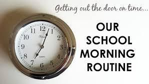 Morning routine for school #1