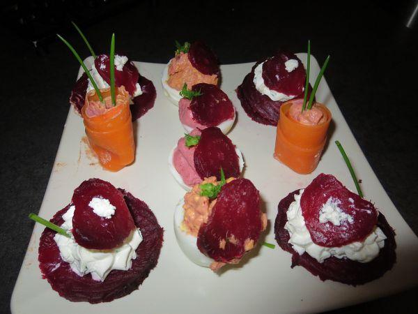 une assiette apéritive (pour St Valentin?)