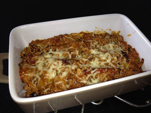 Gratin de quinoa aux poireaux et au jambon