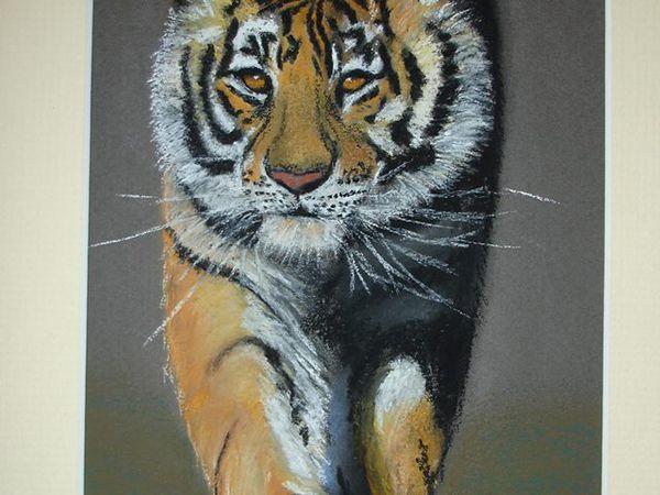 portrait d'animaux fait au pastel