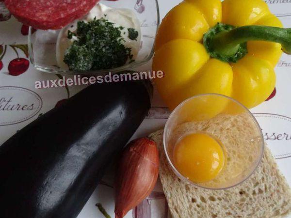 aubergines farcies au bœuf et au poivron -LIGHT-