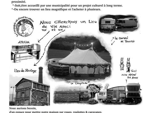 Compagnie recherche Lieu de vie / Envoyée par La Cie Où Rêvent les Arbres - Réactualisée le 17/03/2016