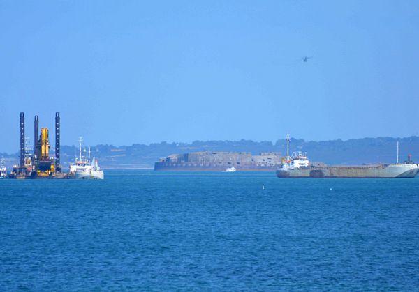 En images, les travaux pharaoniques d'extension du port en grande rade de Cherbourg