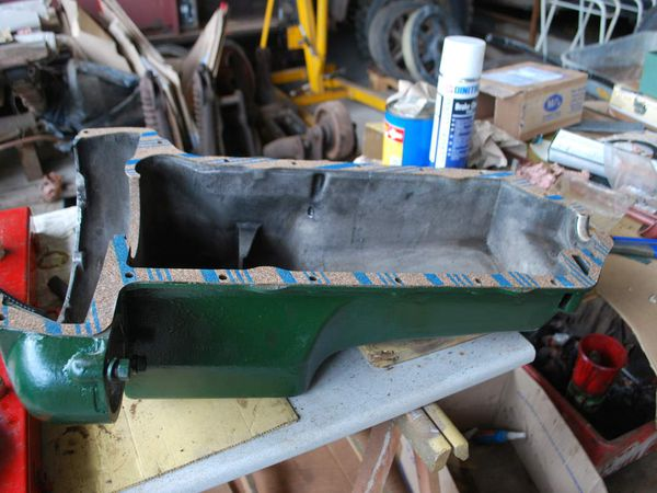 carter à huile joint neuf, vu inter moteur,boite à vitesse remontée et mise en place - cables de freins en place