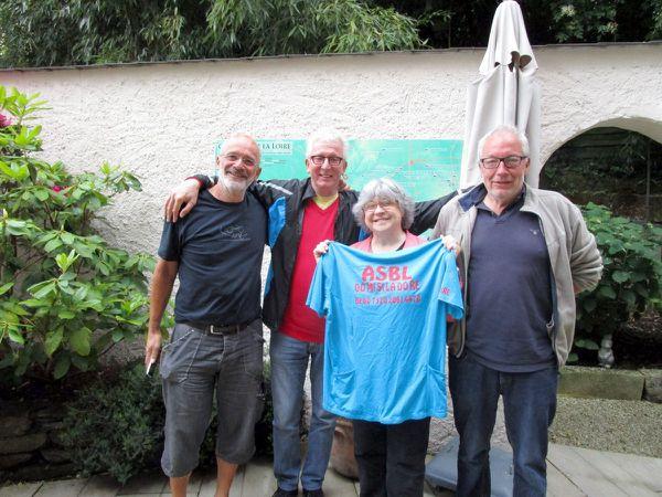 Yves, Michel et Thierry au Grand Moulin avec Marie-Danièle Millet