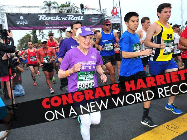 San Diego Rock'n'Roll Marathon 2015. La 92enne Harriette Thompson completa la distanza: grande impresa e centrato il suo obiettivo di una raccolta fondi benefici