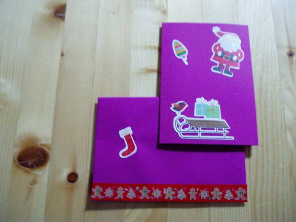 Cartes et enveloppes envoyées