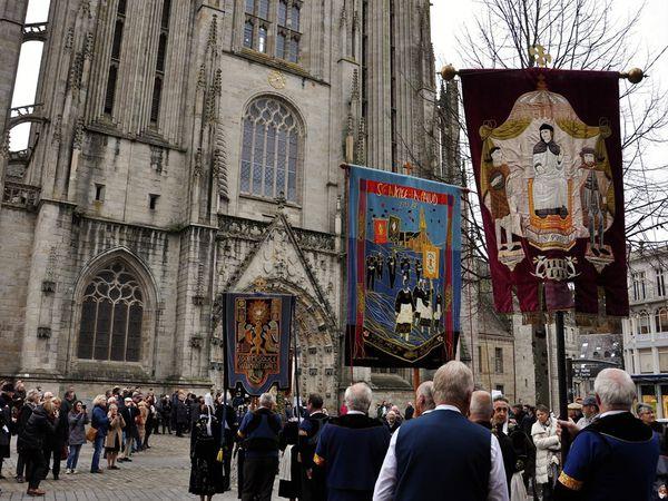 Le pardon de Saint-Corentin ce matin à Quimper