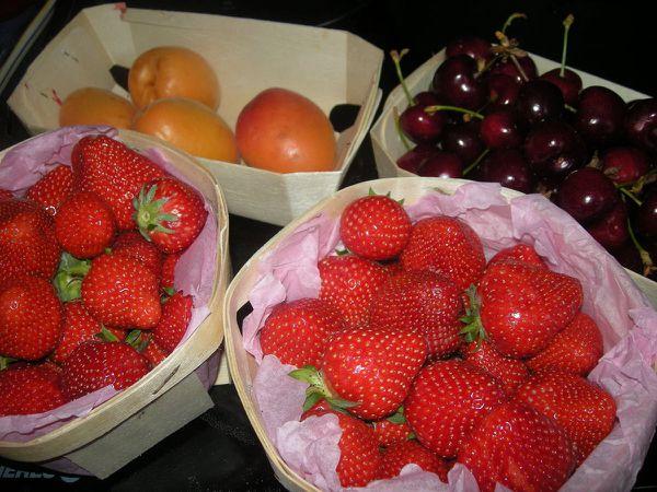 Les fruits du marché de ce matin