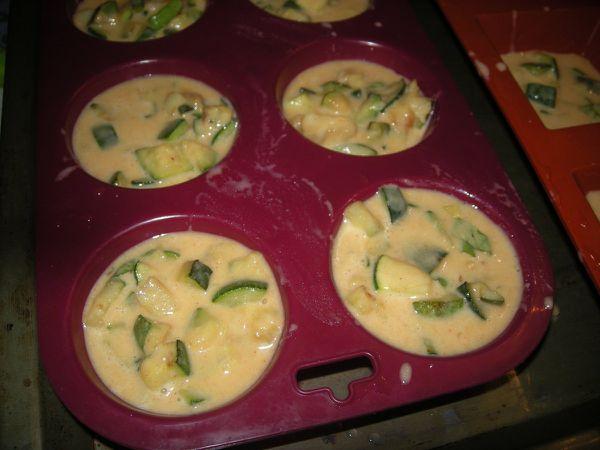 Clafoutis courgette parmesan